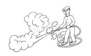 dessin nettoyeur de vapeur